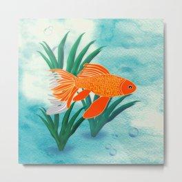 The Goldfish Metal Print