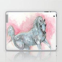 arabian horse on pink background Laptop & iPad Skin