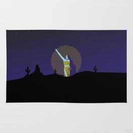 Desert goddess at night Rug