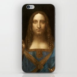 Salvator Mundi by Leonardo da Vinci iPhone Skin