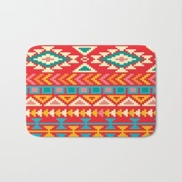 Red Native Aztec Bath Mat