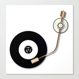 Record And Arm Canvas Print