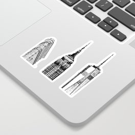 New York City Iconic Buildings-Empire State, Flatiron, One World Trade Sticker