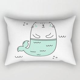 Merkitty Mint Green Rectangular Pillow
