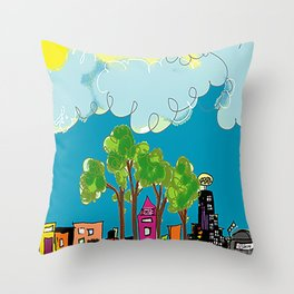 JL The City View Throw Pillow