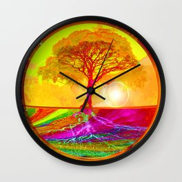 Tree of Life Sunrise Wall Clock