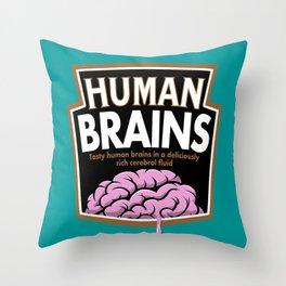 Human Brains Throw Pillow