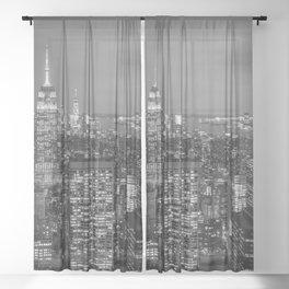 NEW YORK CITY IV Sheer Curtain