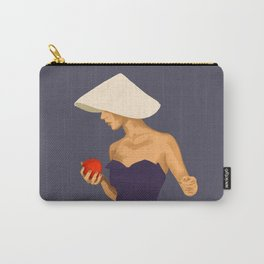 At The Beach: Red Apple Carry-All Pouch