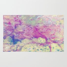 Pastel Madness - Mixed media marble painting Rug