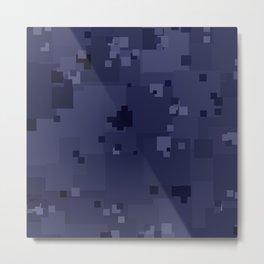 Peacoat Square Pixel Color Accent Metal Print