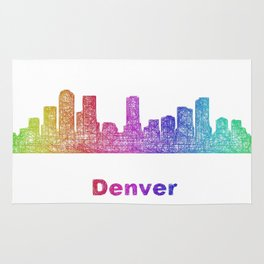 Rainbow Denver skyline Rug
