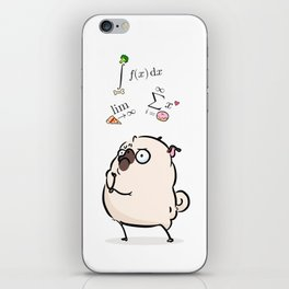 Deep Thoughts - pug calculus iPhone Skin
