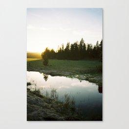 Sunset near Dillon Falls Canvas Print