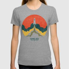 Come See The Universe MEDIUM Tri-Grey Womens Fitted Tee