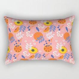 PEACH AND ORANGE PATTERN Rectangular Pillow