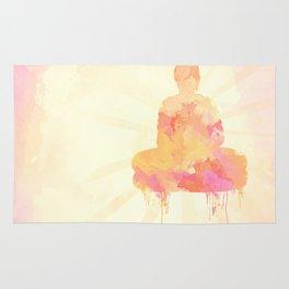 Buddha art illustration watercolor Rug