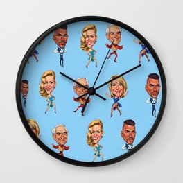 Strictly Come Dancing with Johnny, Jerry, Fern &Peter Wall Clock