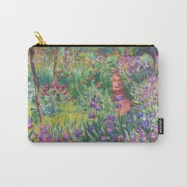 The Iris Garden at Giverny by Claude Monet Carry-All Pouch