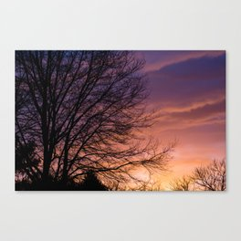 Sunsets and Silhouettes #1 Canvas Print