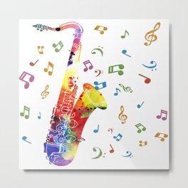 Saxophone Metal Print