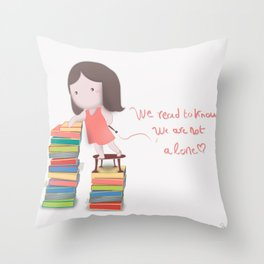 lets read  Throw Pillow