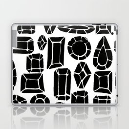 gemstone black and white Laptop & iPad Skin