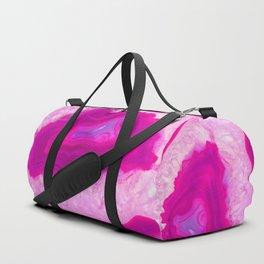 Pink ectoplasm agate Duffle Bag