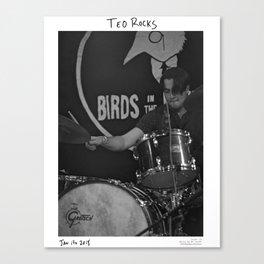 Birds in the Boneyard, Print 19: Teo Rocks! Canvas Print
