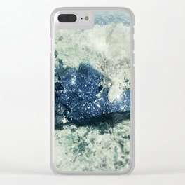 Azurite Waves Clear iPhone Case