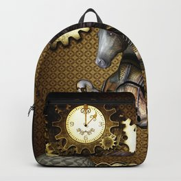 Steampunk, awesome steampunk horse Backpack