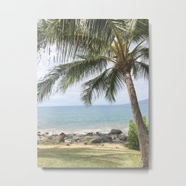 palm trees and ocean breeze Metal Print