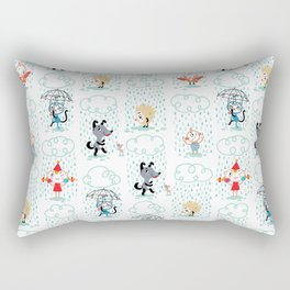 It's Raining - pattern Rectangular Pillow