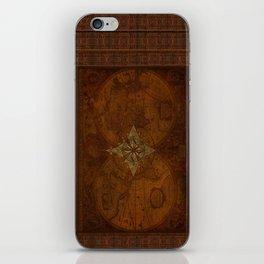 Antique Steampunk Compass Rose & Map iPhone Skin