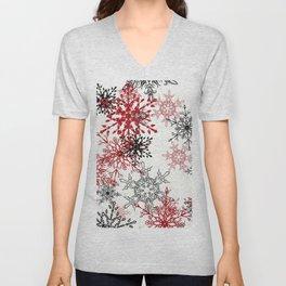 snowflake shine - 2 Unisex V-Neck