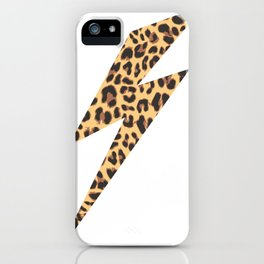 Wild Thing Leopard Lightning Bolt iPhone Case