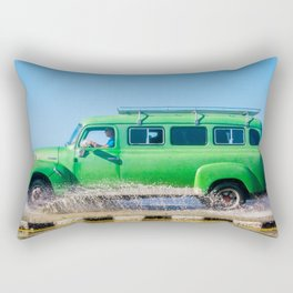 Waves and Classic Cars of the Malecón - 6 Rectangular Pillow