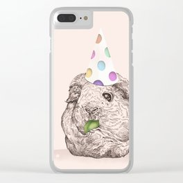 Guinea Pigs Just Want To Party Clear iPhone Case