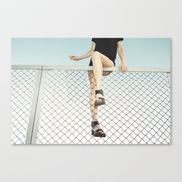 Hoping Fences Canvas Print