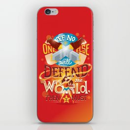 Defend the world iPhone Skin