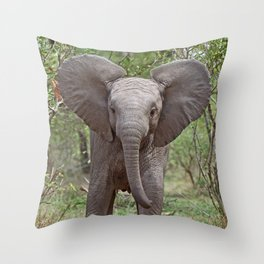 Small Elephant - Africa wildlife Throw Pillow