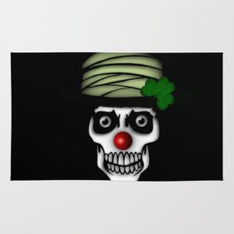 Irish Clown Skeleton Rug
