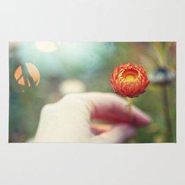 Everlasting Strawflower Rug