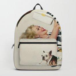 Vintage Pin Up Girl Backpack