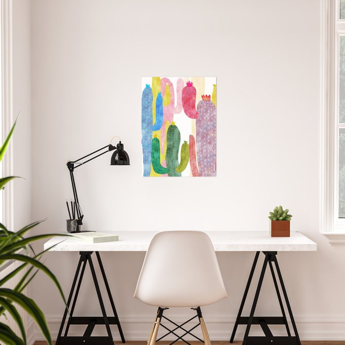 color cactus Poster