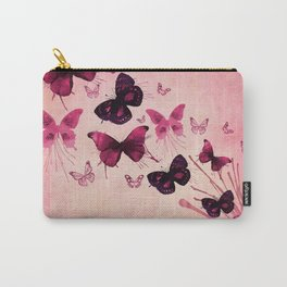 PINK BUTTERFLIES WATERCOLOR Carry-All Pouch