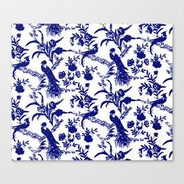 Royal french navy peacock Canvas Print
