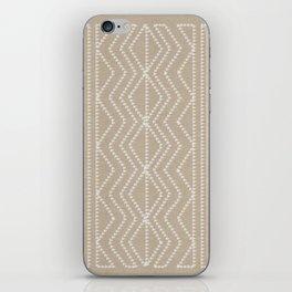 Cream Linen Beige Arrows Pattern iPhone Skin