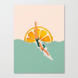 Girl Dive Canvas Print