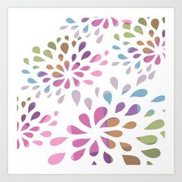 Colourful drops Art Print